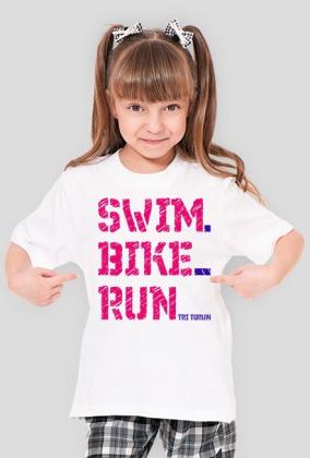 swim-bike-run dziewczynka