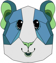 Świnka Morska Niebieska - DAMSKA