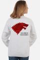 Wolf The North Remembers Gra o tron bluza damska biała