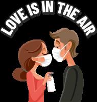LOVE IS IN THE AIR - koszulka damska biała