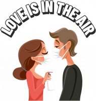 LOVE IS IN THE AIR - bluza damska czarna / biała / szara