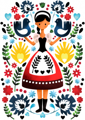 Folkowa panienka