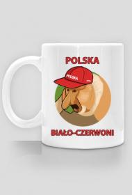 Polska kubek biało czerwoni