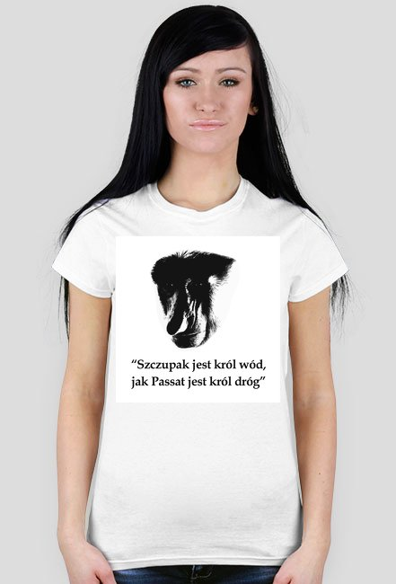 Szczupak - koszulka damska biała