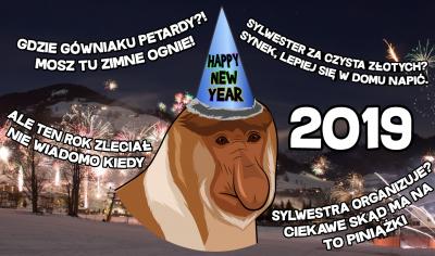 Kalendarz 2019 noworoczny Nosacze