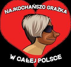 Najkochańszo Grażka w całej Polsce - kubek