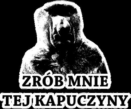 KAPUCZYNA - KUBEK CZARNO BIAŁY