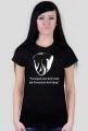 Szczupak - koszulka damska czarna