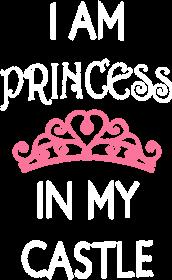 """Koszulka na ramiączkach """"I am princess in my castle"""""""
