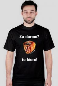"""""""Za darmo?"""" - koszulka męska (czarna)"""