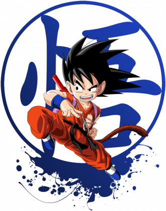 Dragon Ball Hoodie Kid Goku With Symbol 2017 (Orange & White )