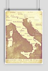 Mapa Wina - Włochy - plakat