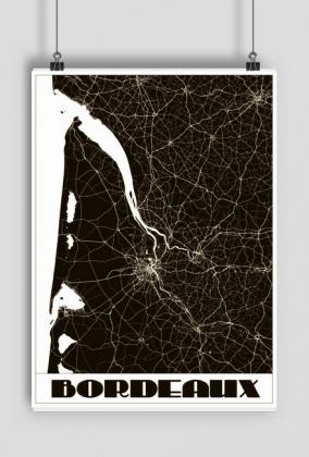 Mapa Bordeaux - plakat art deco