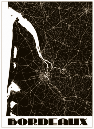 Mapa Bordeaux - torba art deco