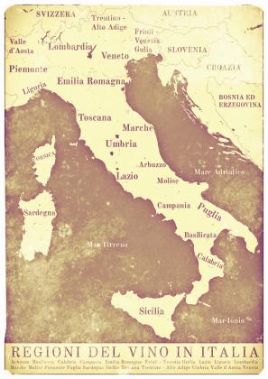 Mapa Wina - Włochy - torba