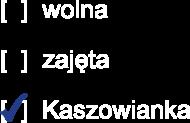 Kaszowianka wolna/zajęta/Kaszowianka bluza