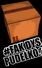 Poduszka 'Fak Dys Pudełko'