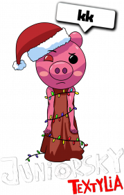 Bluza Dziecięca Kaptur - Świąteczna Piggy