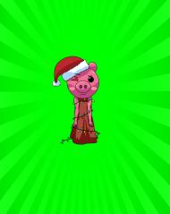Komin - Świąteczna Piggy