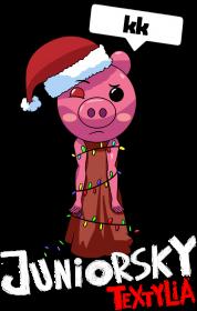 Koszulka Męska - Świąteczna Piggy