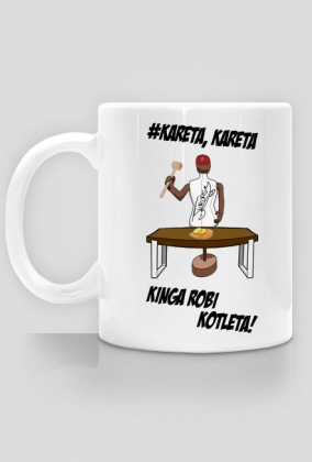 Kubek Dwustronny 'Kinga Rob Kotleta' z autografem Juniorsky