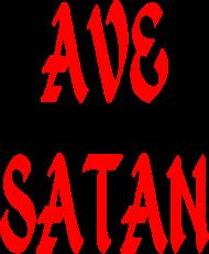 "koszulka damska ""ave satan/666"""