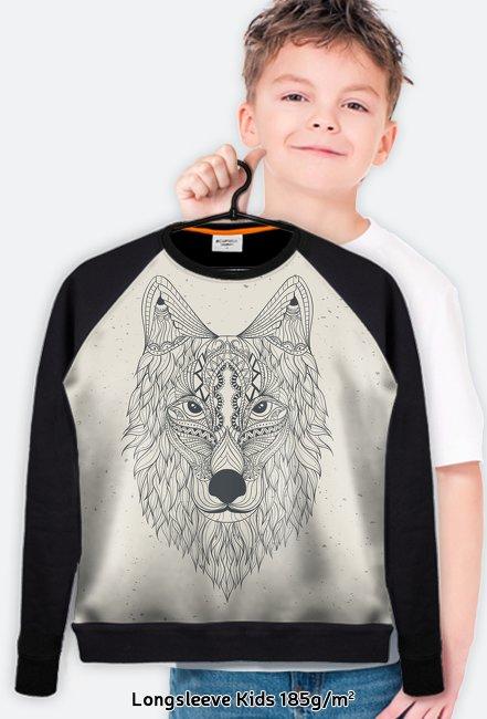 Longsleeve dziecięcy Wilk piaskowy
