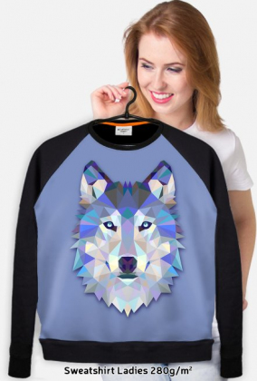Bluza damska Wilk błękit