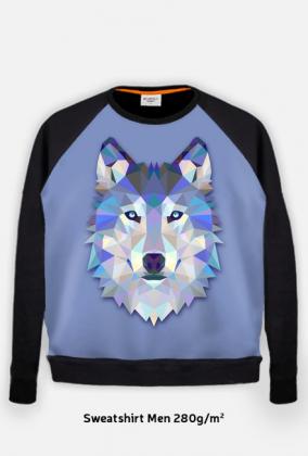 Bluza męska Wilk błękit