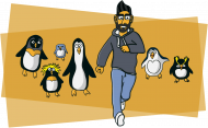 Chased by Penguins White