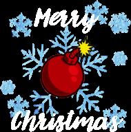 Koszulka Merry Christmas Bombka czarna
