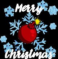 Koszulka Merry Christmas Bombka ciemna