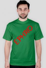 Męska koszulka z logo (zielona)