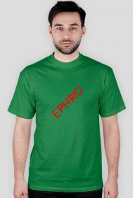 Męska koszulka z małym logo (zielona)