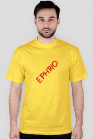 Męska koszulka z małym logo (żółta)
