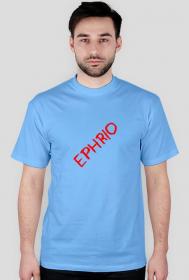 Męska koszulka z małym logo (błękitna)