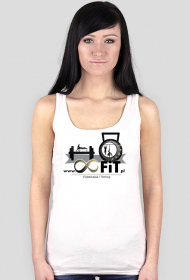 Tank top damski z logiem 8FiT