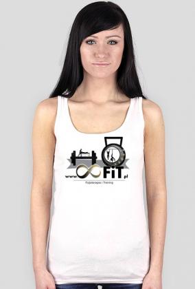 Tank top damski z logiem 8FiT