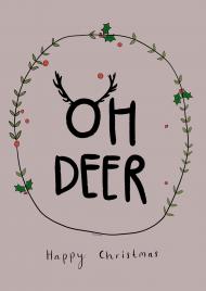 Oh deer, plakat