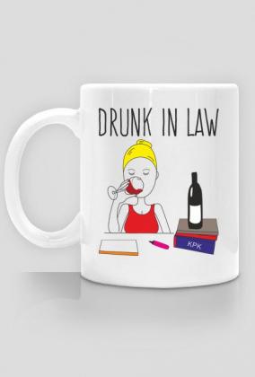 Kubek Drunk In Law Blondynka