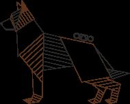Owczarek niemiecki - origami