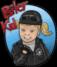 Biker Girl Chopper Black
