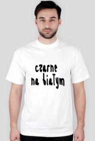 """Koszulka męska """"czarne na białym"""""""