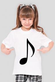 Koszulka dla dziewczynki muzyka nuta