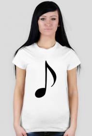 """Koszulka damska muzyka """"nuta"""""""