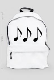 Duży plecak muzyka nuty.