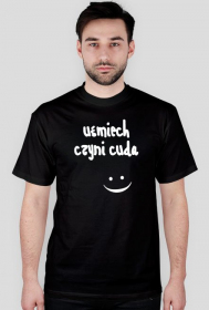 """Koszulka męska z nadrukiem """"Uśmiech czyni cuda"""""""