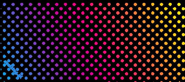 Kubek Ombre Polka Dots