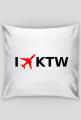 Poduszka I LOVE KTW - Katowice - Samoloty