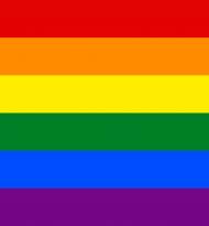 Tęcza LGBT klapki japonki